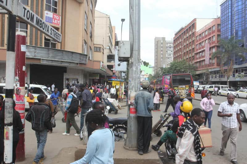 A group of youths has since come up with a brilliant idea to save Nairobians from the tension of walking around the CBD in fear of being robbed. Photo: NTV
