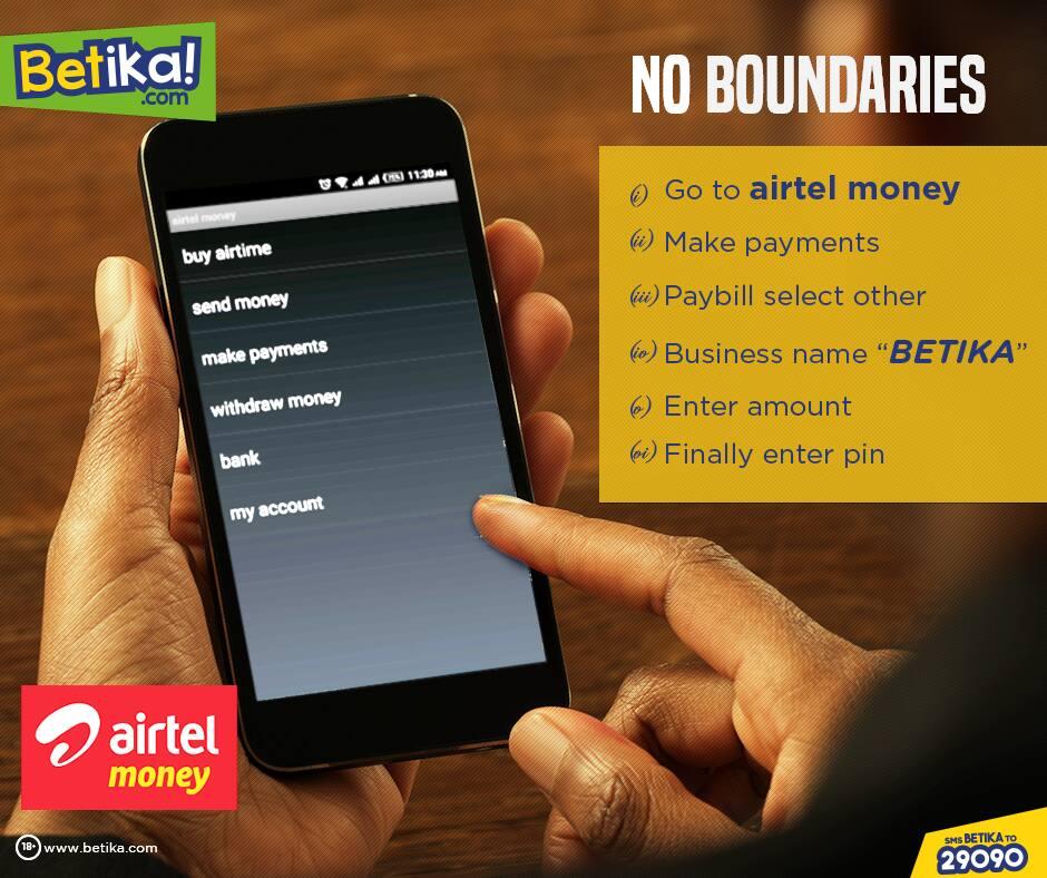 deposit to betika via airtel money