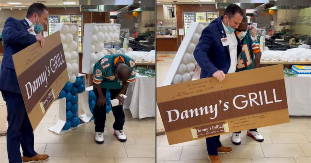 Danny had served at the hospital's eatery for 45 years before his retirement.