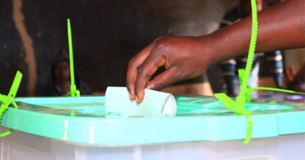 A picture of someone voting. Photo: IEBC.