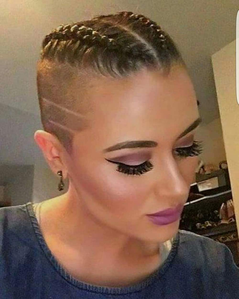Cornrows with shaved sides