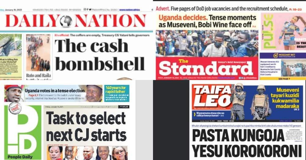 Kenyan newspapers review for Jan 15: KDF pilot killed in Tsavo plane crash was set to wed
