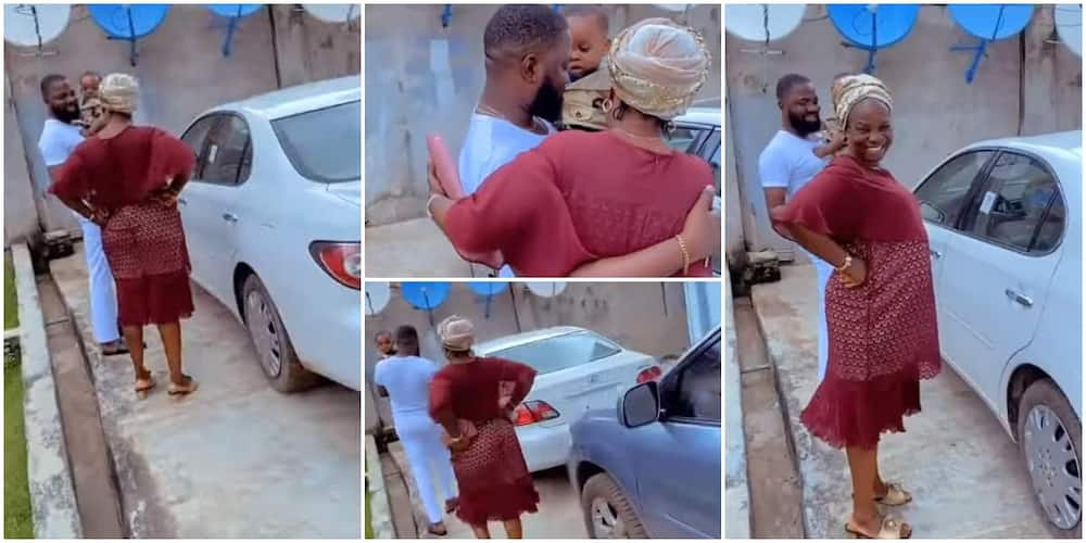 Sweet moment man surprised his mother with a car gift melt hearts, the woman blushed like a baby and prayed for the son