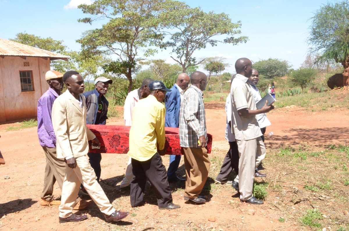 Kitui villagers conduct second burial for man who disappeared from home for 40 years