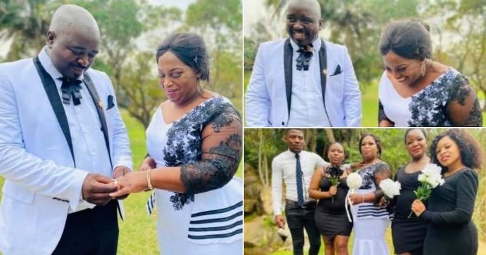 Couple ties the knot after 17 years of dating, photos shared online