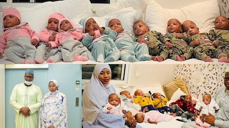Woman Who Gave Birth to Nonuplets Shows Their Faces for First Time as They Turn 6 Months Old