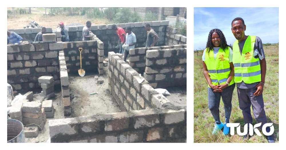 Exclusive photos of permanent house Tahidi actor Omosh is being built