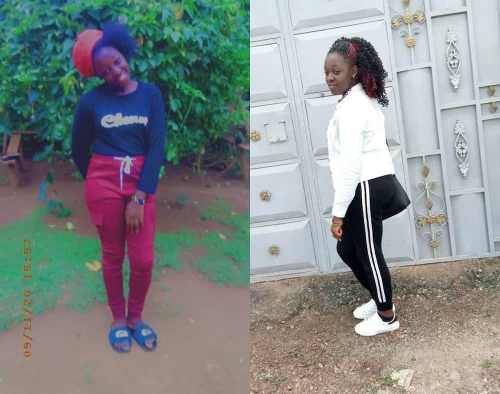 Slain Kiriri Women's University of Science and Technology student Christine Ambani. Photos: Christine Ambani.