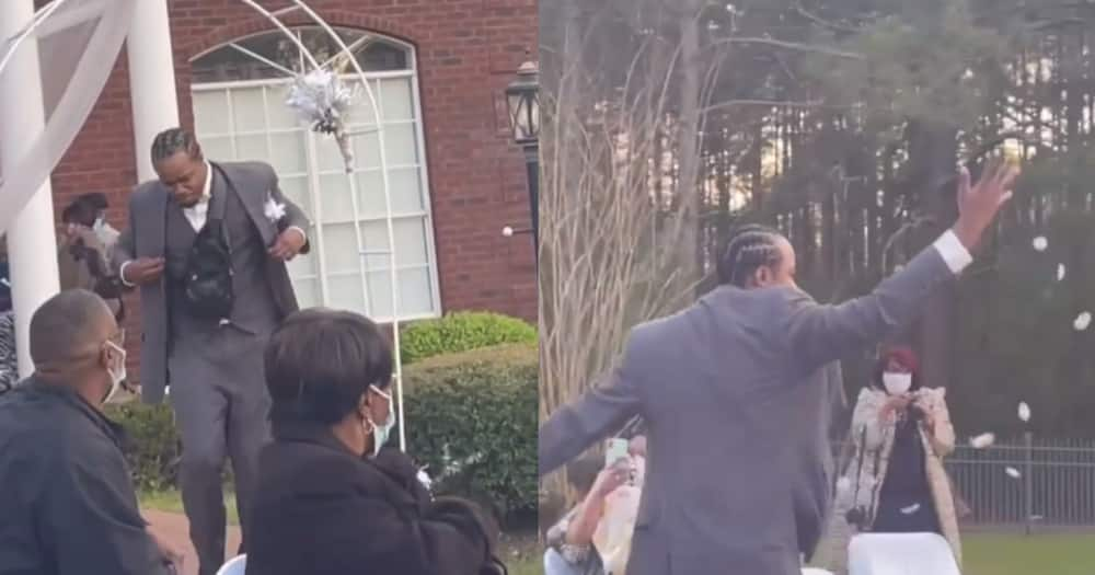 Flower Man: Confident Guy Throws Petals Like Flower Girl During Cousin's Wedding
