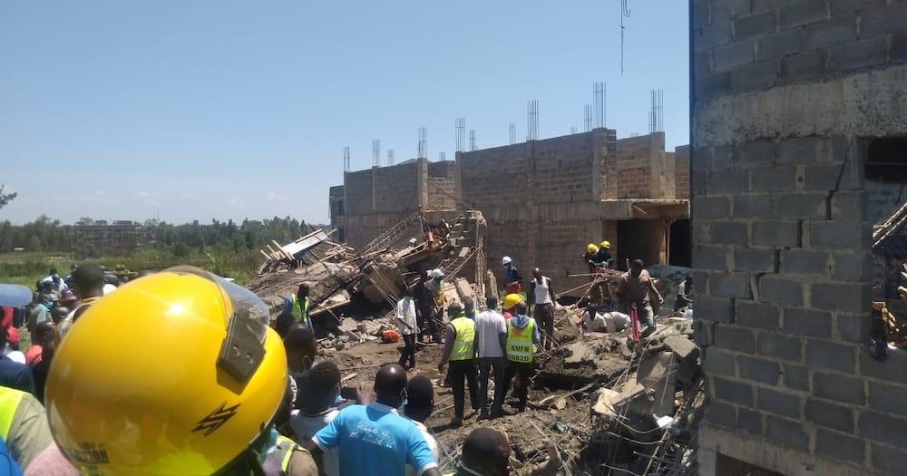 The collapsed building in Mamboleo Kisumu. Photo: Wuod Siaya.