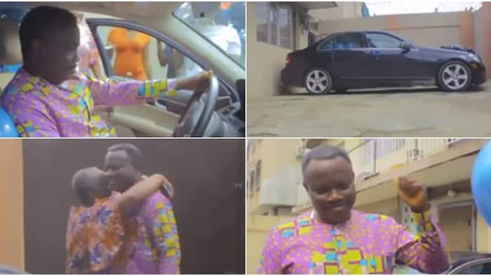 Nigerian Doctor and Siblings Gift Their Dad Brand New Mercedes-Benz on His Birthday, Cute Video Warms Hearts