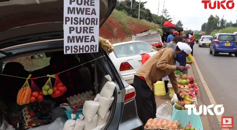Sleek BMW, Mercedes, Prado owners throw pride aside, sell groceries from their vehicles as COVID-19 bites