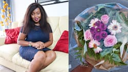 Kenyan Woman Gifted Beautiful Bouquet After Returning Handbag, Valuables to Customer