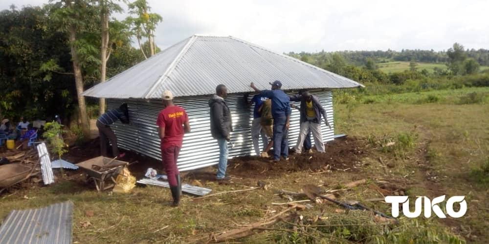 Selina Akumu's new home. Photo: Naomi Akoth