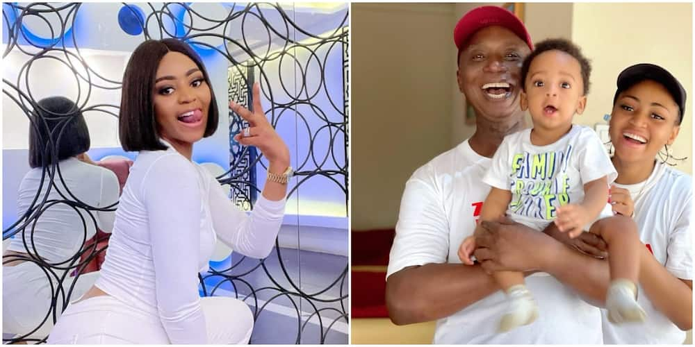 Cool Mum: Regina Daniels Shares How She Intends to Relate with Son Munir 20 Years from Now