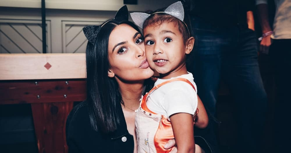 Kim Kardashian and her daughter North West. Photo: Getty Images.
