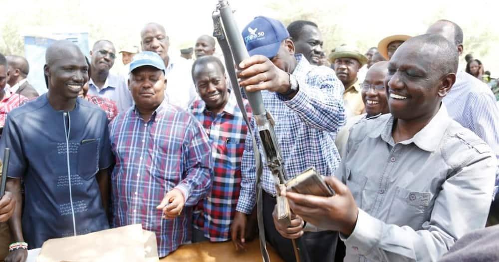 DP William Ruto preceding over the registration of firearms in Turkana. Photo: William Ruto.