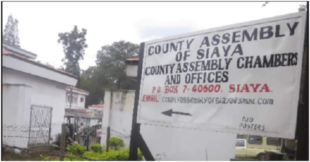 The ward representatives had earlier protested the move by KRA to slap their car grants with a 30%. Photo: Siaya County