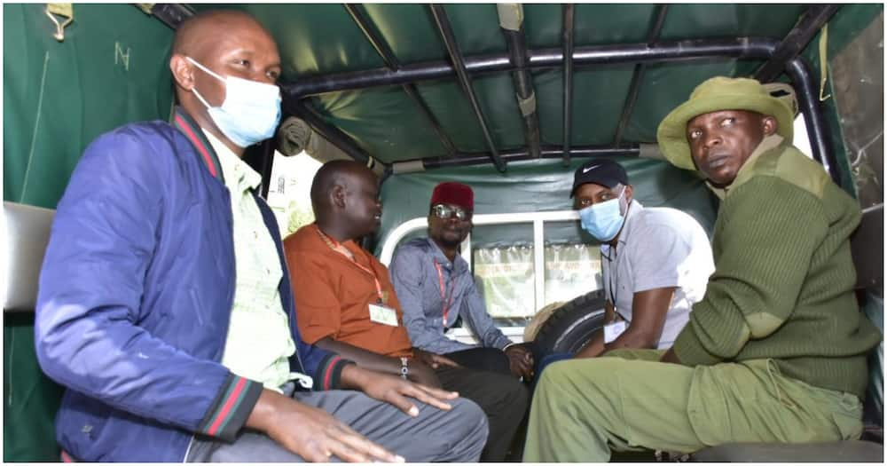 The four Tangatanga allied lawmakers were taken to Bungoma Police Station for interrogation. Photo: Road Alerts