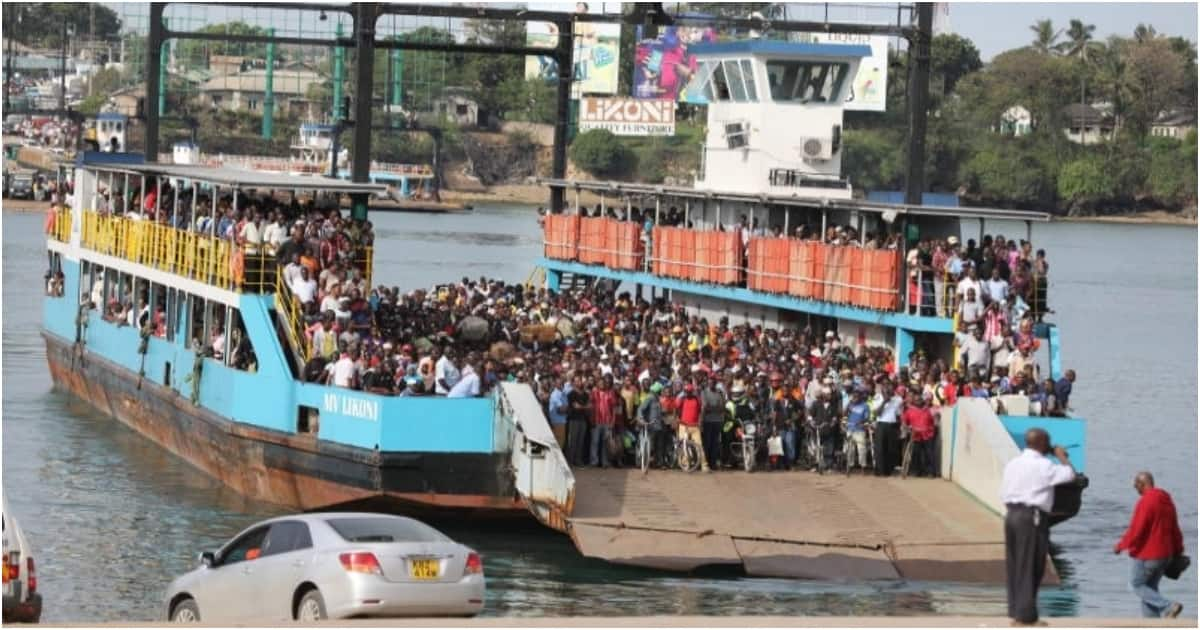 Scare as MV Likoni ferry stalls midway channel, pushed to shore by another vessel ▷ Kenya News