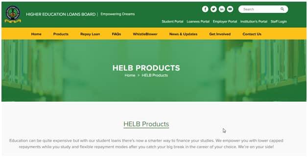 Helb account creation
