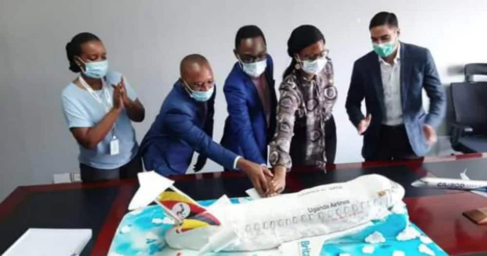 No turbulence as Uganda Airlines gets proper anniversary cake after first attempt nosedived