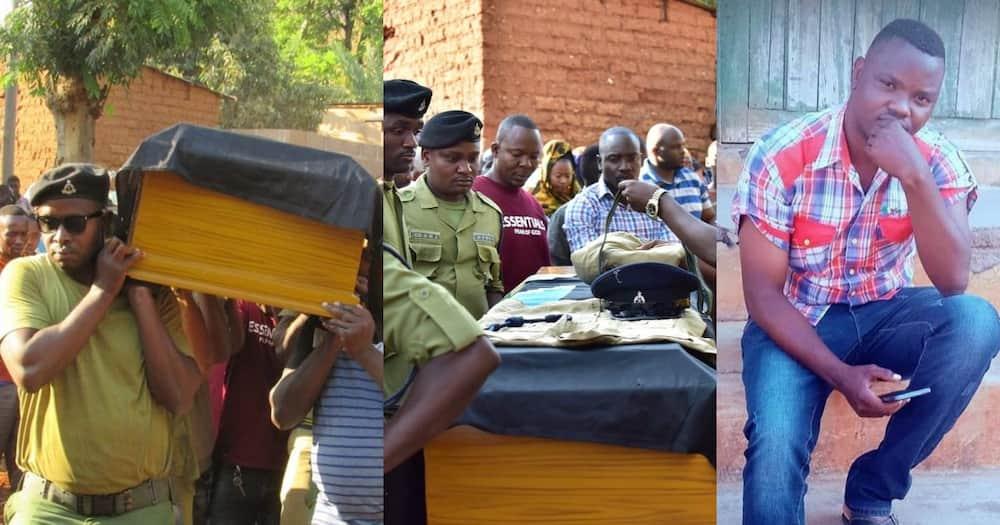 Tanzanian police officer Rashid Juma passed on while watching a football match on TV.