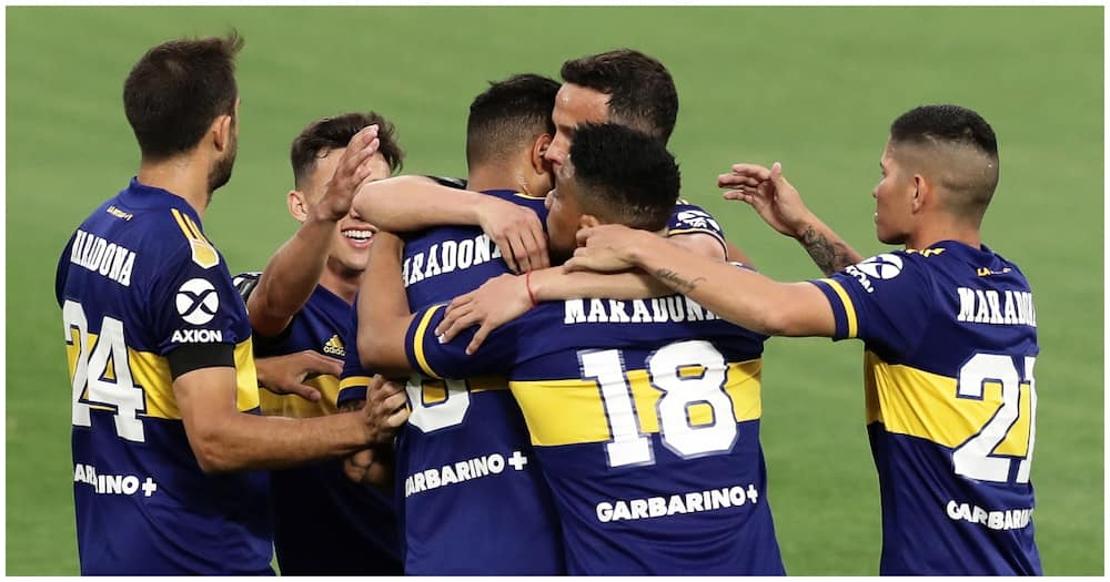 Diego Maradona's daughter moved to tears as Boca players pay moving tribute to late legend