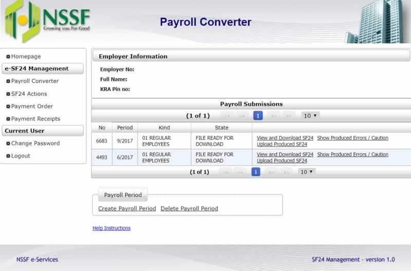 NSSF portal- login, registration, statement, certificate