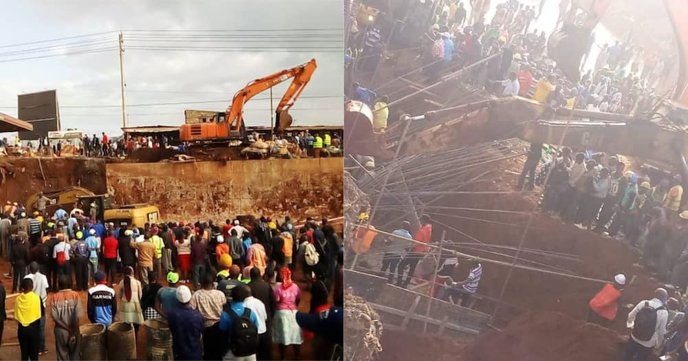 The Kangemi flyover on Waiyaki Way caved in and trapped an unknown number of victims.