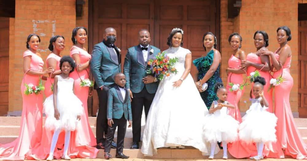 Newlyweds Sams and Hope Kaggwa.