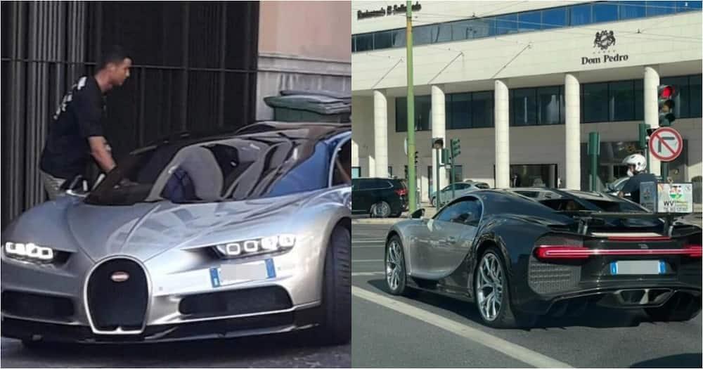 Ronaldo Spotted Spinning Rare KSh 32 Million Bugatti Ahead Of Portugal Meeting vs Spain
