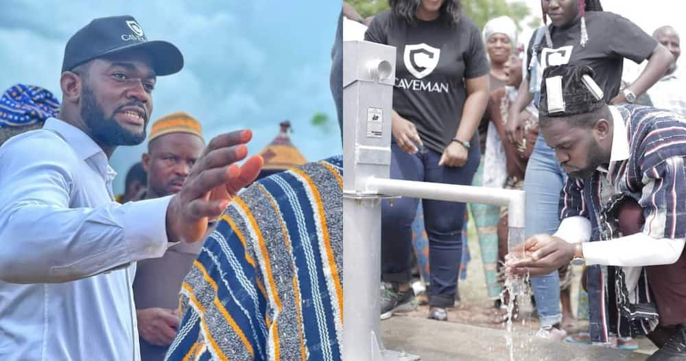 Anthony Dzamefe gave out KSh 370,000 to help construct a borehole in Upper West Ghana.