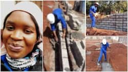 Young Lady Who Works as Bricklayer Showcases Her Work with Pride in Inspiring Photos
