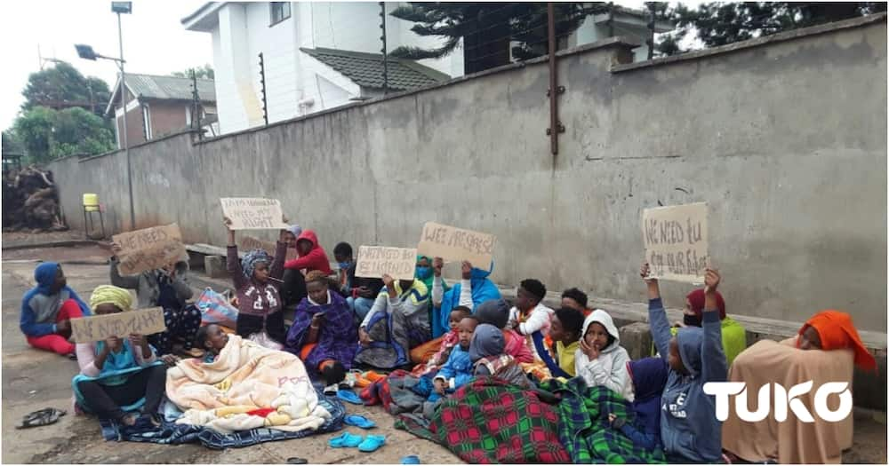 Nairobi: Refugees at UNHCR transition centre on strike to protest against extended stay