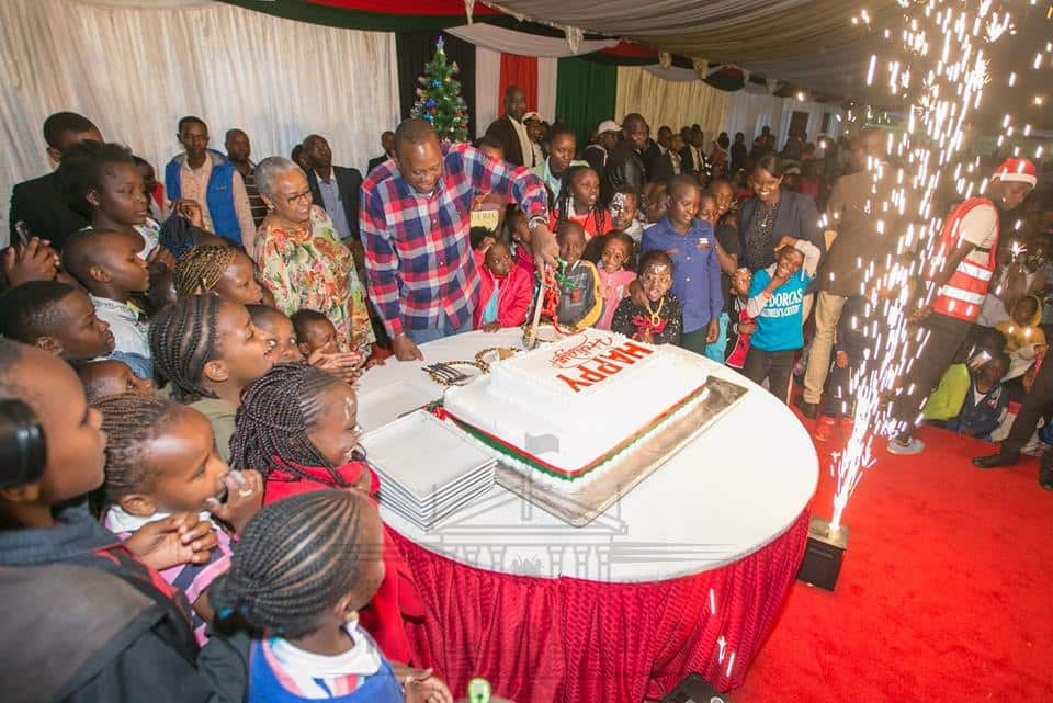 Uhuru, First Lady treat orphaned children to early Christmas party at State House