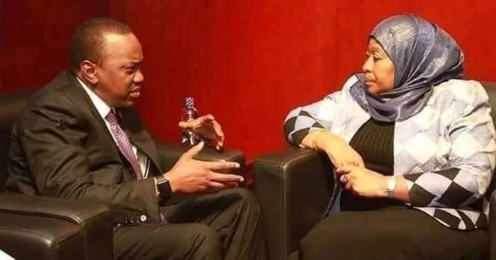 Kaka na Dada: Video of Uhuru Speaking with Samia Suluhu on Magufuli's Phone Resurfaces