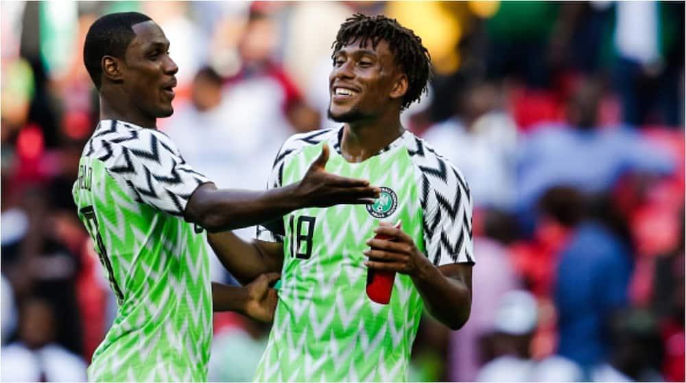 Alex Iwobi: Nigerian star bumps ex-national team-mate Odion Ighalo on UK highway