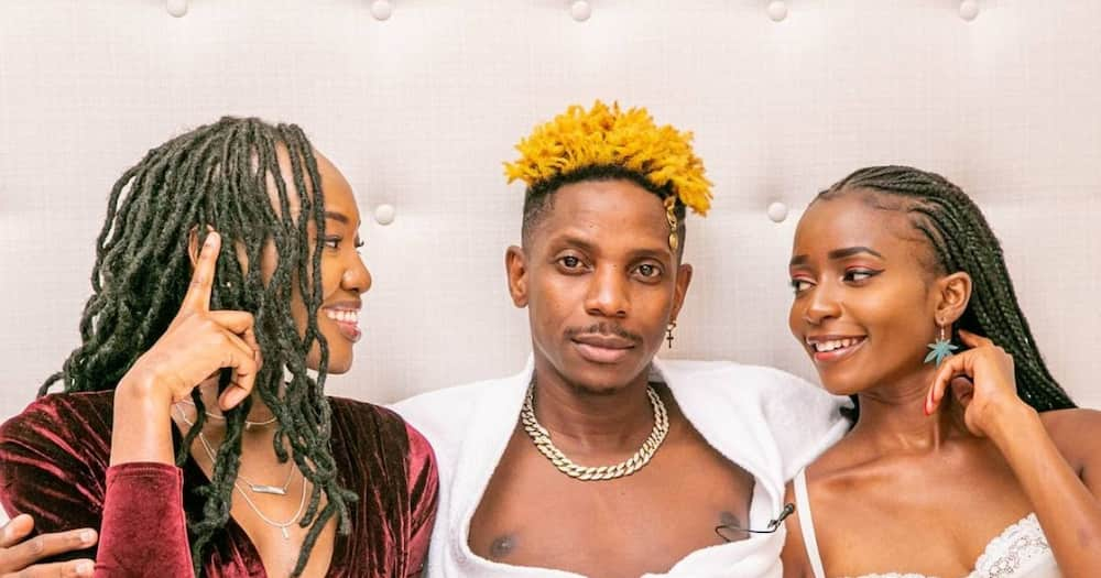 """Eric Omondi left in stitches after meeting hilarious man with creative title: """"I'm son of Abich"""""""