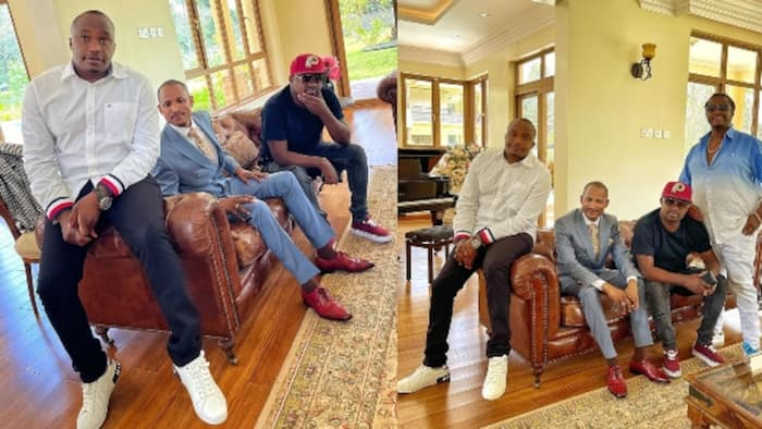 """MP Jaguar Blissfully Hangs out With Friends Babu Owino, DK Kwenye Beat: """"Best Therapy in The World"""""""