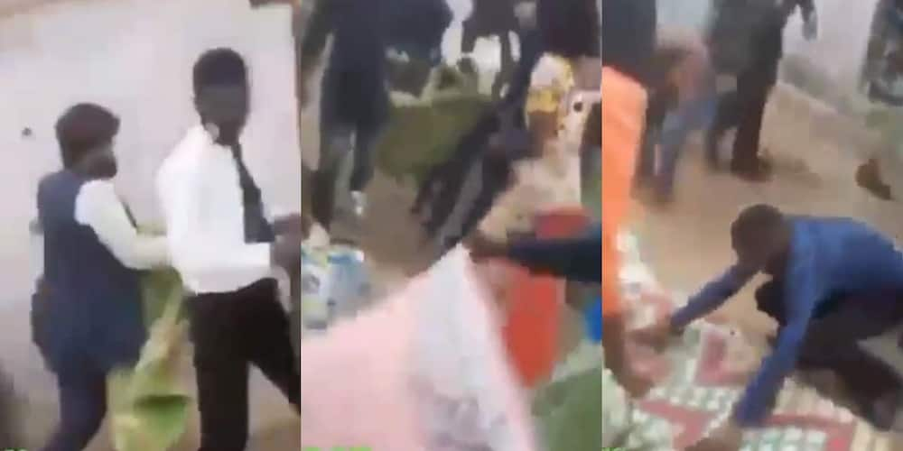 Video of church members putting their cloths on the ground for pastor to walk on them causes stir online