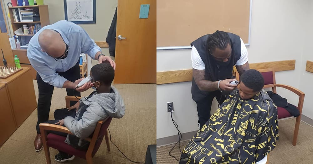 Kind principal gives boy proper haircut after noticing he was covering his head
