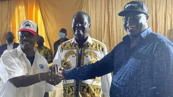 Kabogo na Nyoro Wafanya Handisheki Baada ya kukutana na Raila