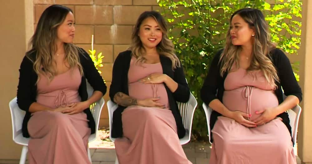 The sisters from Orange County expect two boys and a girl in July, August and November.