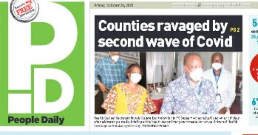 Magazeti Oktoba 30: Raila achemka baada ya IEBC kusema refarenda ya BBI itagharimu 14B