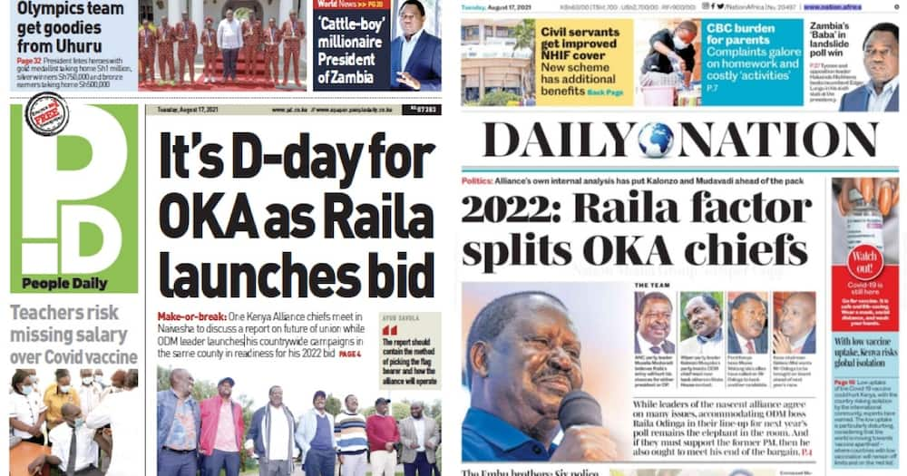 Kenyan Newspapers Review for August 17.