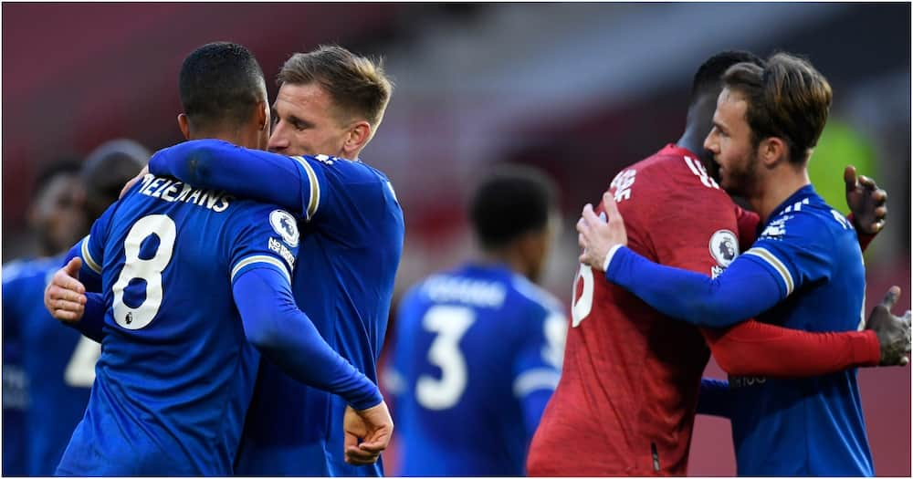 Manchester City confirmed as Premier League Champions Leicester sink United at Old Trafford
