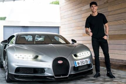 Most exotic footballers' cars including Aubameyang's Ferrari and Ronaldo's Bugatti
