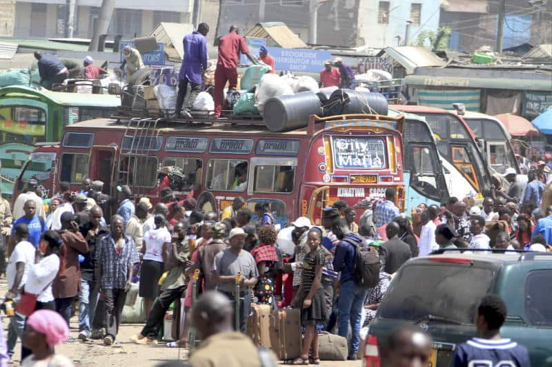 Kenyans traveling for Christmas holiday stranded over fare hike despite government's warning
