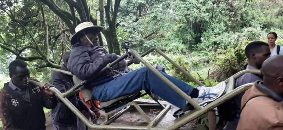 Kenya's first AG Charles Njonjo tracks gorillas ahead of his 100th birthday